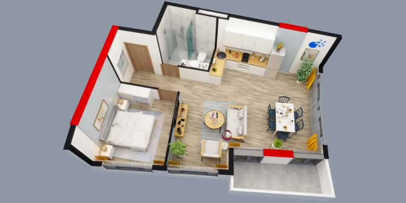 Apartments with completed renovation
